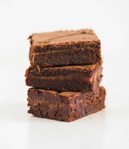French Village Small Salted Caramel Brownie Slab