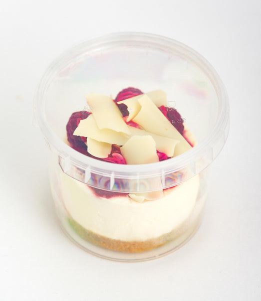 French Village Raspberry & White Chocolate Cheesecake Dessert Pot