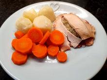 Load image into Gallery viewer, Cooked Turkey ham and stuffing portions