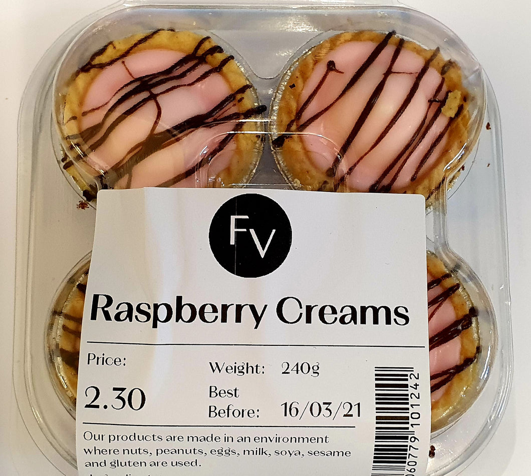 French Village Raspberry Creams - 4 pack