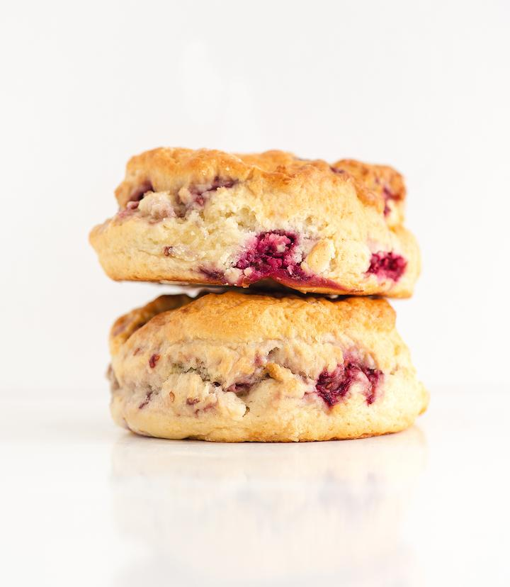 French Village Raspberry & White Chocolate Scones - 2 pack