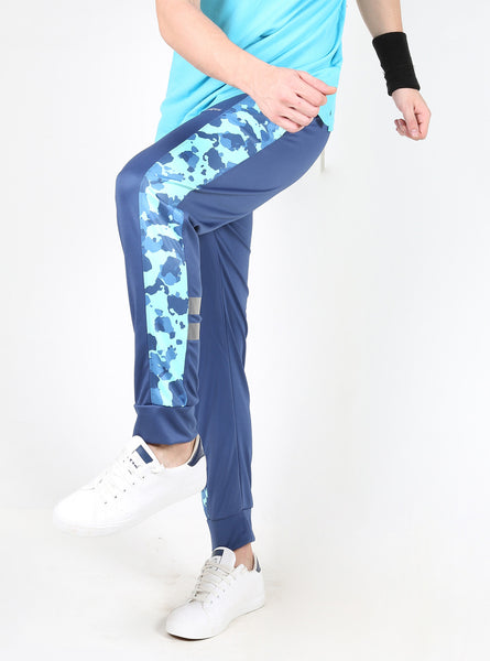 Green Camo on Blue Joggers