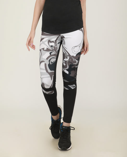 Black & White Abstract Tights