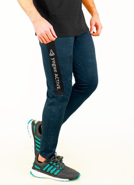 Blue Slim-Fit Joggers
