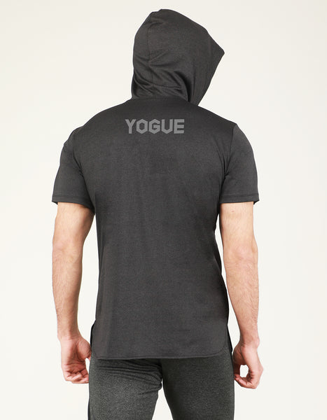Charcoal Grey Hooded T-Shirt