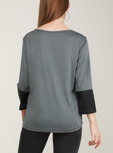 Grey Full Sleeve T-Shirt