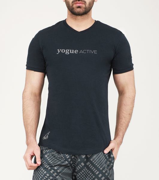 Yogue Active Charcoal V-Neck Cotton T-Shirt