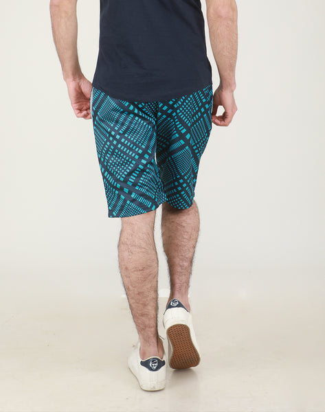 Blue Rhombus Shorts