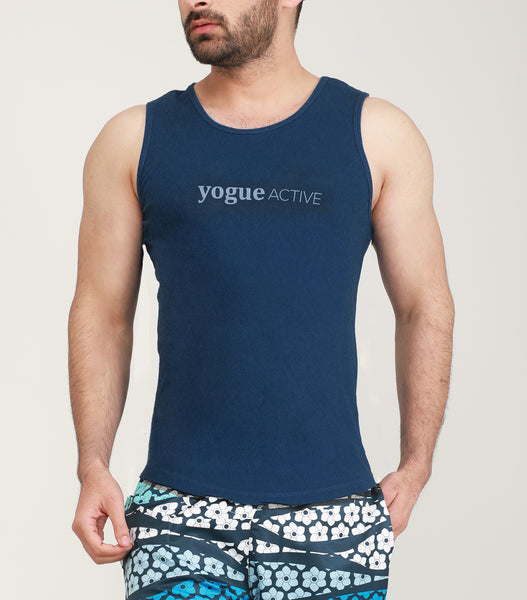Yogue Active Navy Blue Gym Vest