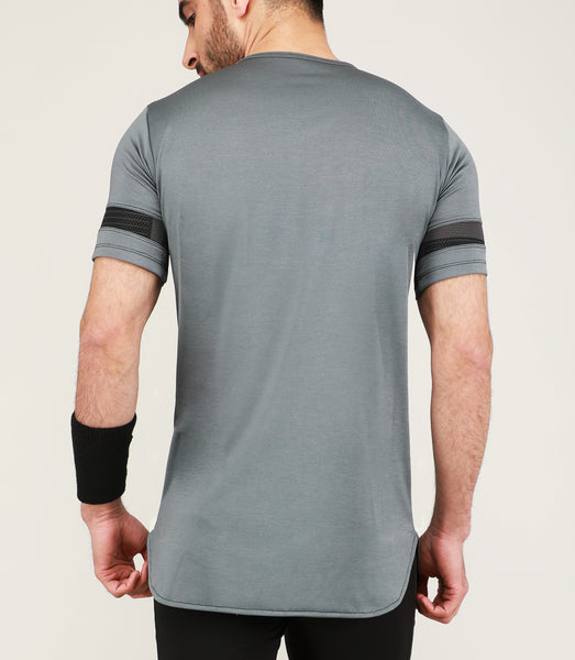 Silver Grey Long T-Shirt