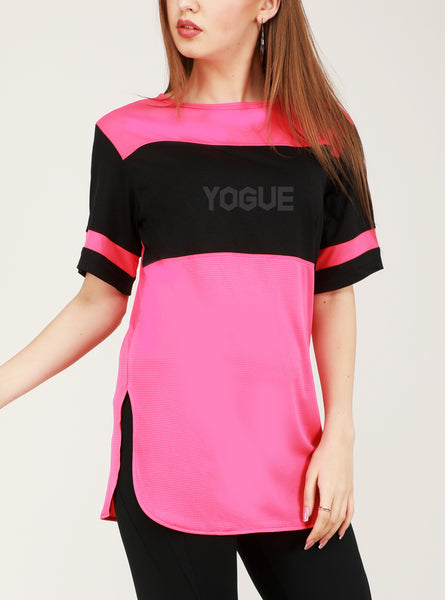 Pink Black Long T-Shirt