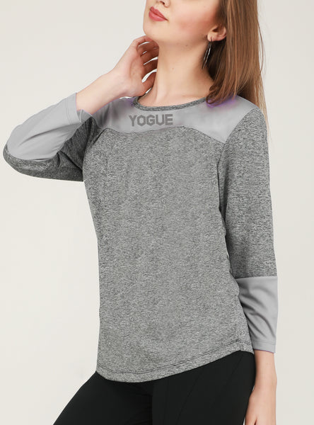 Grey Texture Full Sleeve T-Shirt