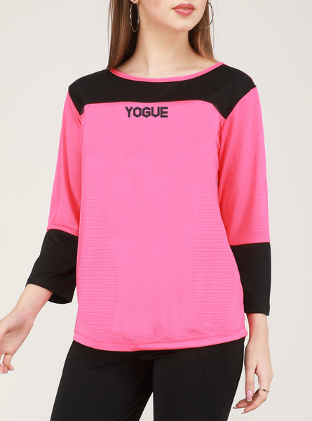 Pink Black Full Sleeve T-Shirt
