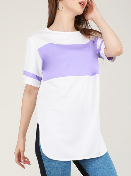 White Mauve Long T-Shirt