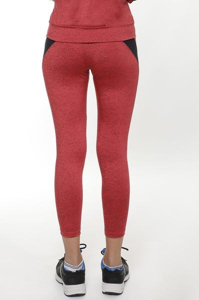 Red Black Textured Tights