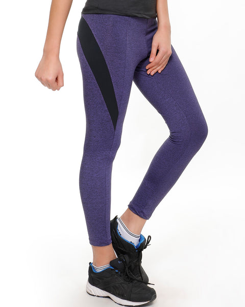 Purple Black Textured Tights