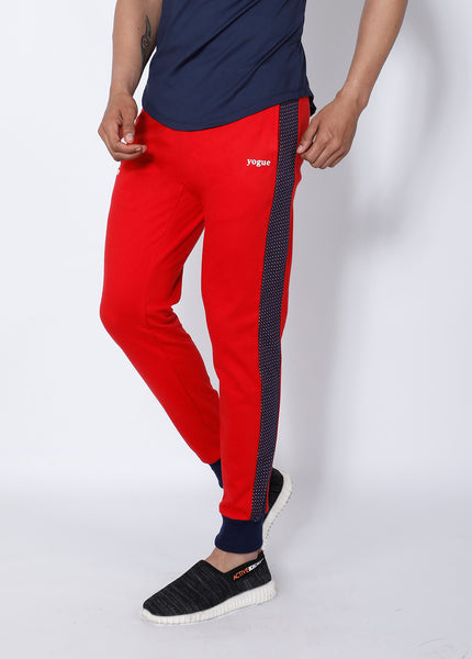 Red & Navy French Terry Joggers