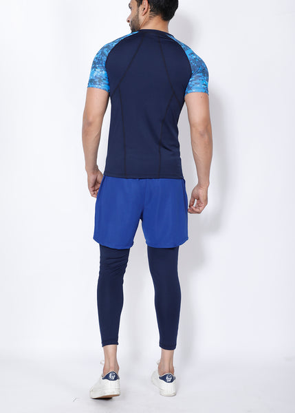Navy Deadlift 2-in-1 (Shorts+Tights)