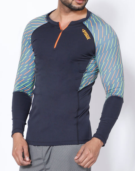 Charcoal Dash Full Sleeve Compression