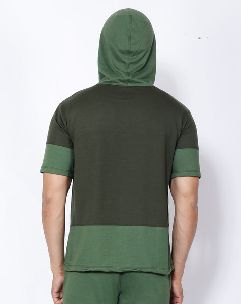 Green Superpower Hooded T-Shirt