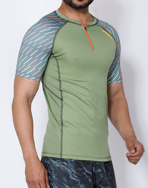 Pista Green Compression T-Shirt
