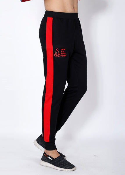 Black & Red French Terry Joggers