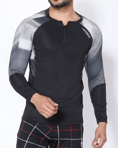 Black Microdots Full Sleeve Compression