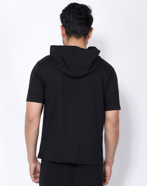Black Superpower Hooded T-Shirt