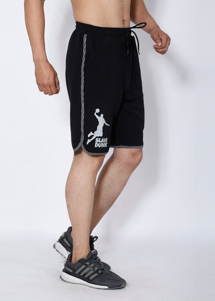 Black Silver Basketball Shorts