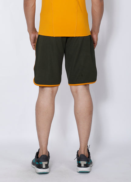 Olive Green Football Shorts