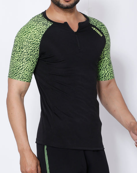 Black Neon Compression T-Shirt