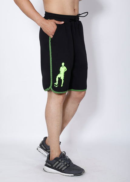 Black Neon Football Shorts
