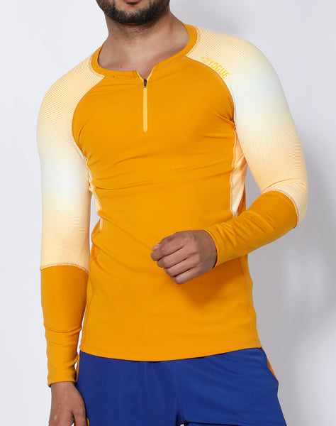 Mustard Yellow Full Sleeve Compression
