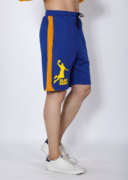 Blue & Yellow Basketball Shorts