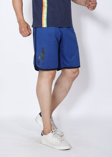 Blue Stripes Football Shorts