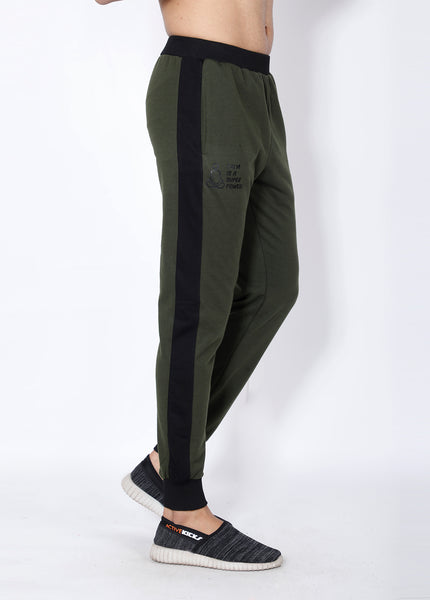 Olive Black Terry Joggers