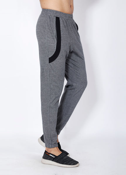 Grey Texture Cotton Joggers