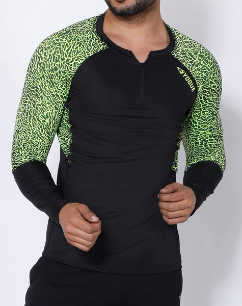 Black Neon Full Sleeve Compression