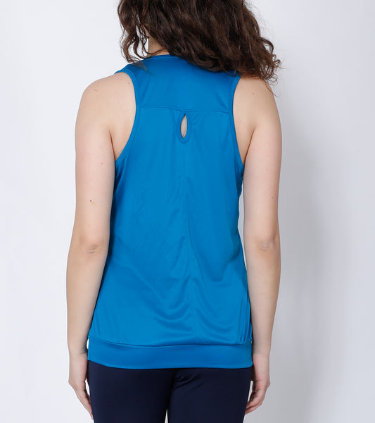 Teal Blue Comfort Fit Tank Top