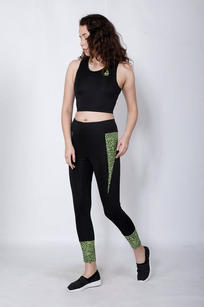 Shop The Look - Compression Top + Leggings - Black Neon