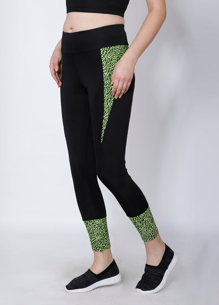 Shop The Look - Crop Zipper + Leggings - Black Neon