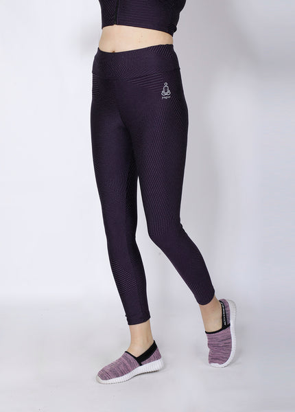 Shop The Look - Crop Zipper + Leggings - Purple Silver