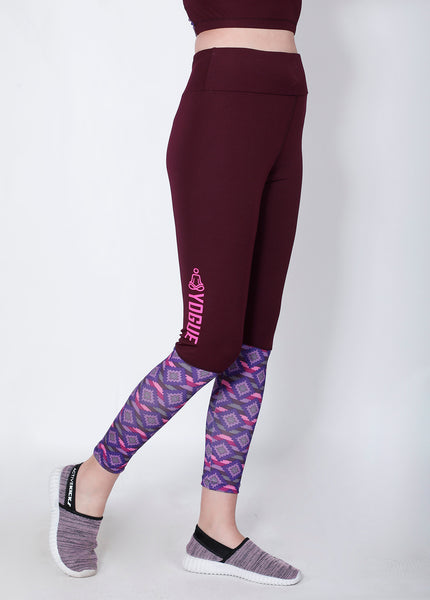 Shop The Look - Crop Zipper + Leggings - Cherry Red Print