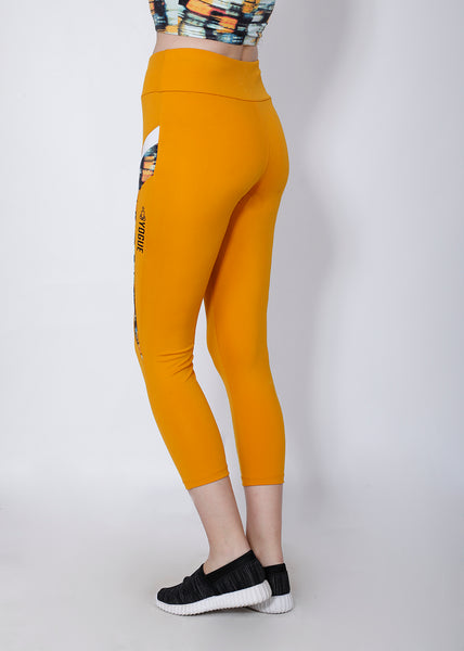 Shop The Look - Crop Zipper + Leggings - Mustard Trance