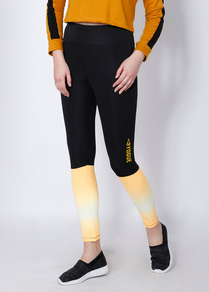 Black & Yellow 2Tone Tights