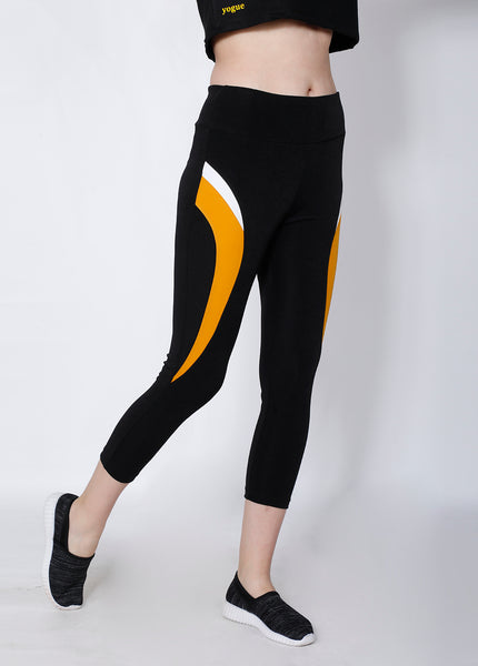 Black & Yellow 7/8th tights