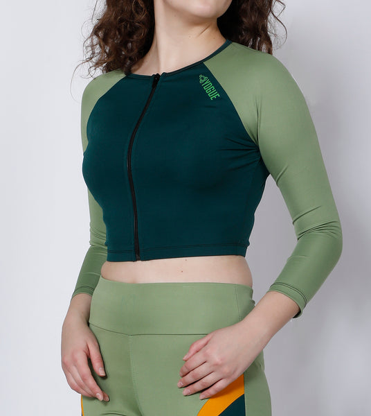 Green Crop Zipper