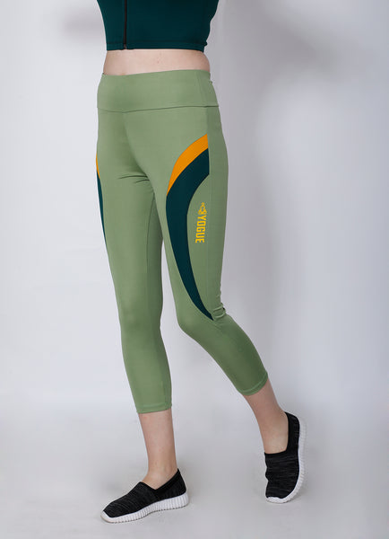 Shop The Look - Crop Zipper + Leggings - Pista Green