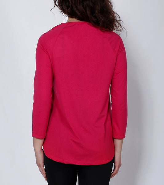 Pink Flared-Fit Cotton T-Shirt