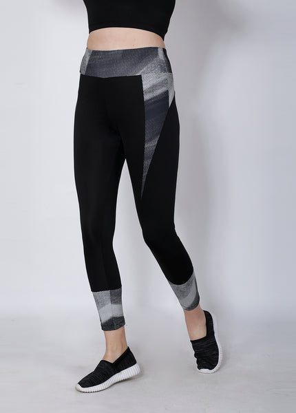 Shop The Look - Compression Top + Leggings - Black Silver